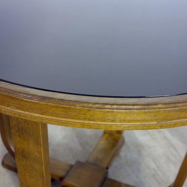 art d co couchtisch mit schwarzer glasplatte 1930 bei pamono kaufen. Black Bedroom Furniture Sets. Home Design Ideas