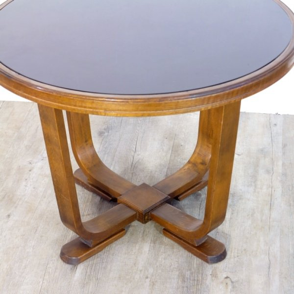 art deco coffee table with glass top 1950s for sale at pamono. Black Bedroom Furniture Sets. Home Design Ideas