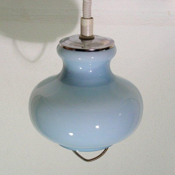 Italienische Deckenlampe aus Glas von Murano, 1970er