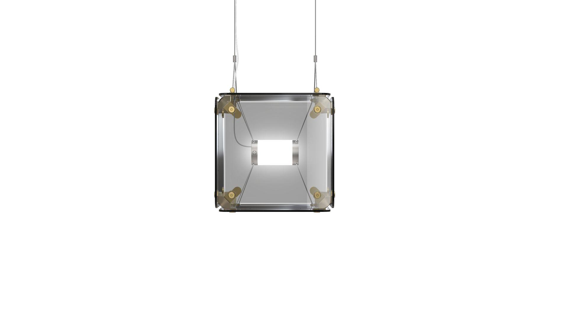 Hyperqube Hängelampe aus Glas mit 1 Modul und dimmbarer LED von Felix ...
