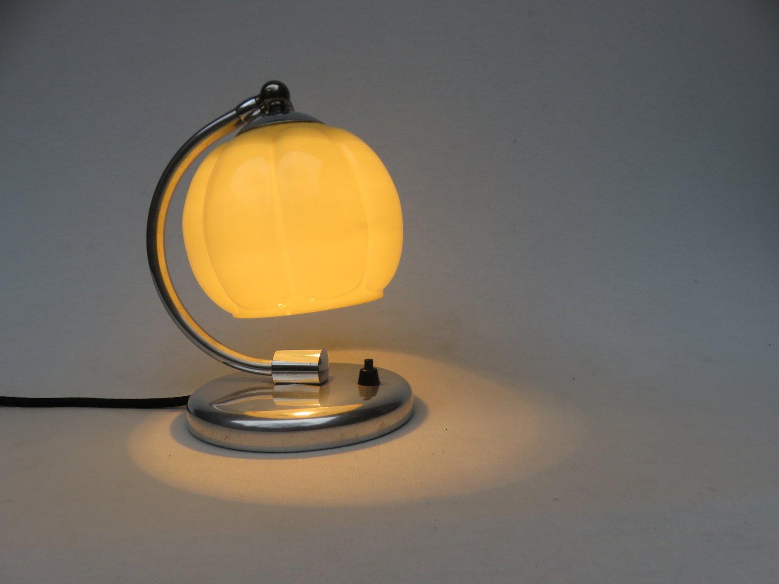 Art déco aluminium nachttisch lampen er set bei pamono kaufen
