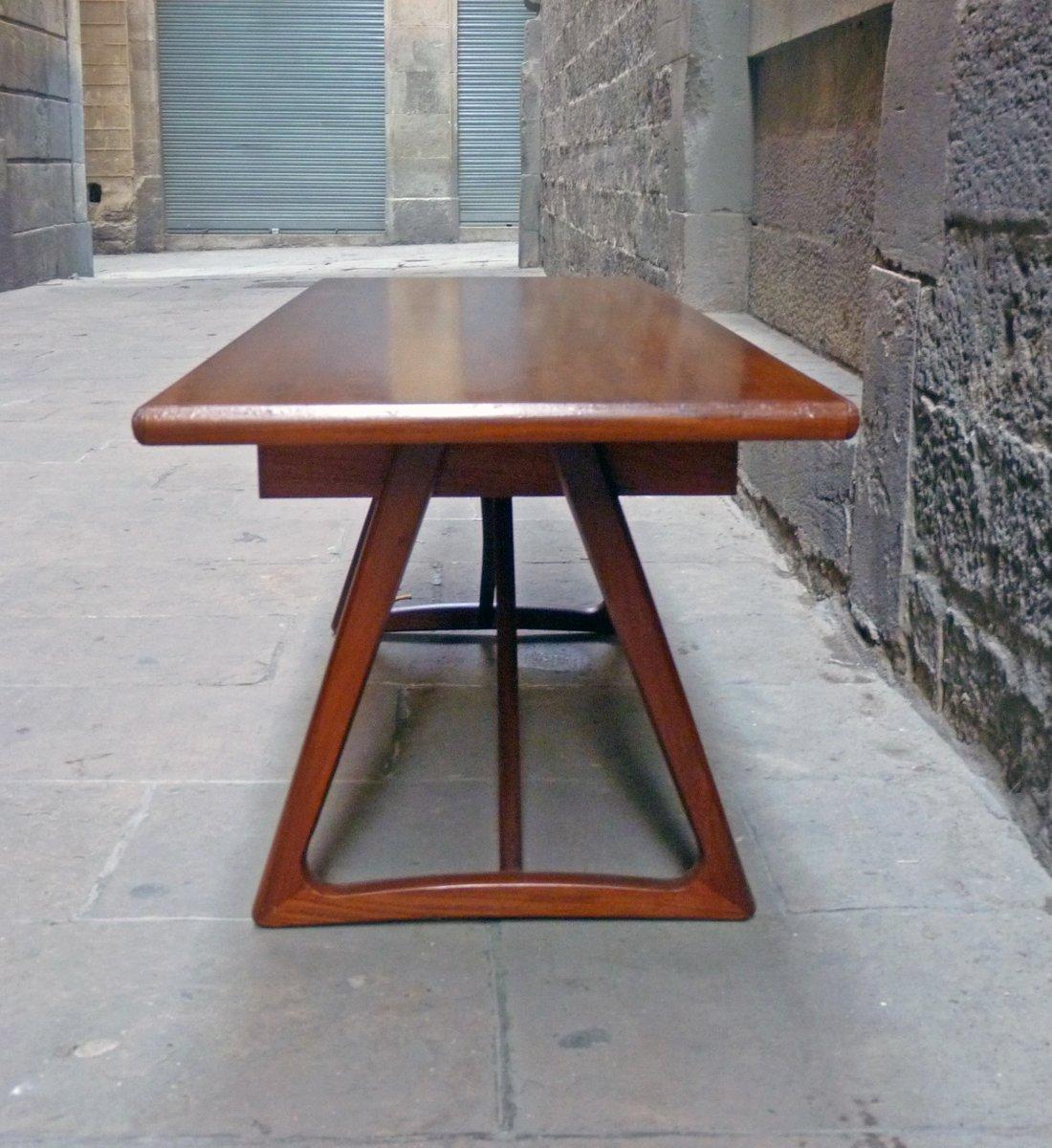 Mid-Century Large Danish Teak Coffee Table, 1960s For Sale