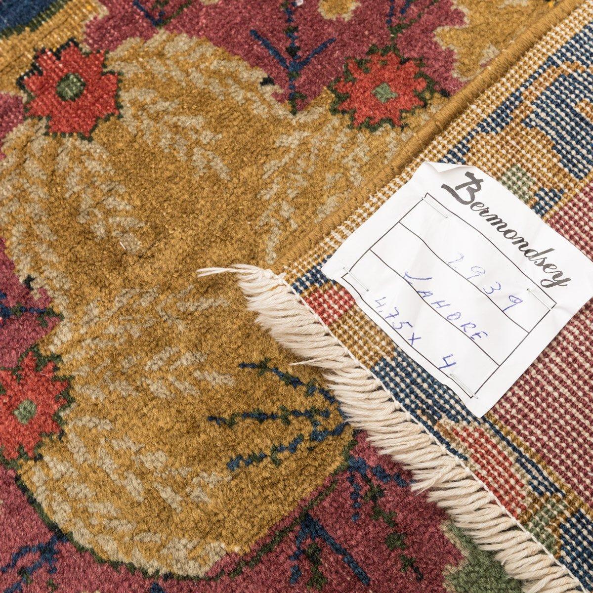 indischer teppich im jugendstil 1920er bei pamono kaufen. Black Bedroom Furniture Sets. Home Design Ideas