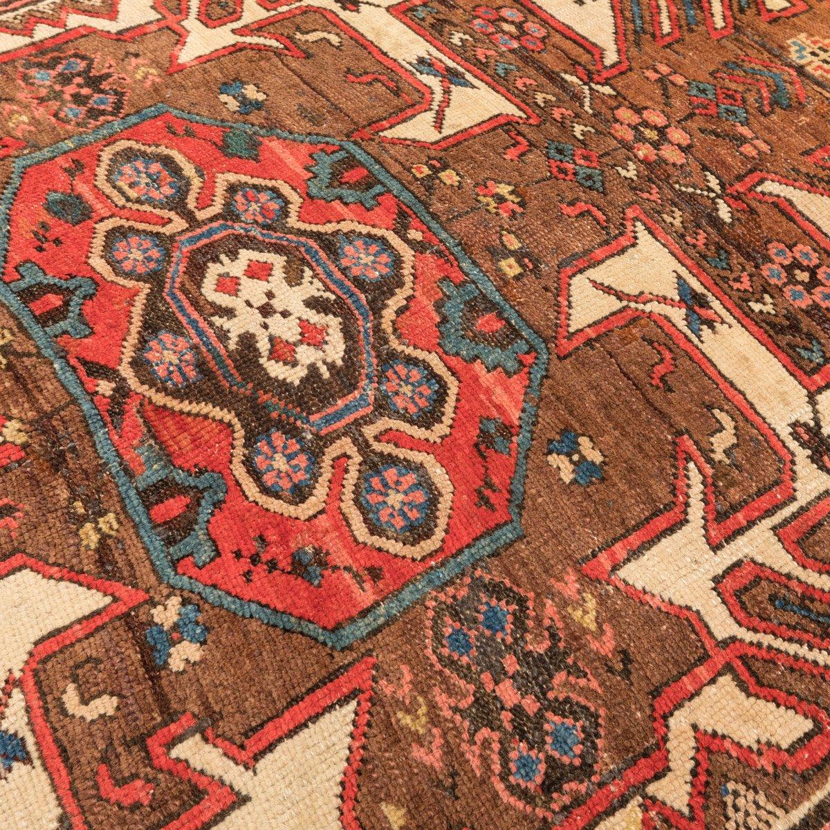 antiker kasachischer kaukasischer teppich mit geometrischem blumenmuster 1900er bei pamono kaufen. Black Bedroom Furniture Sets. Home Design Ideas