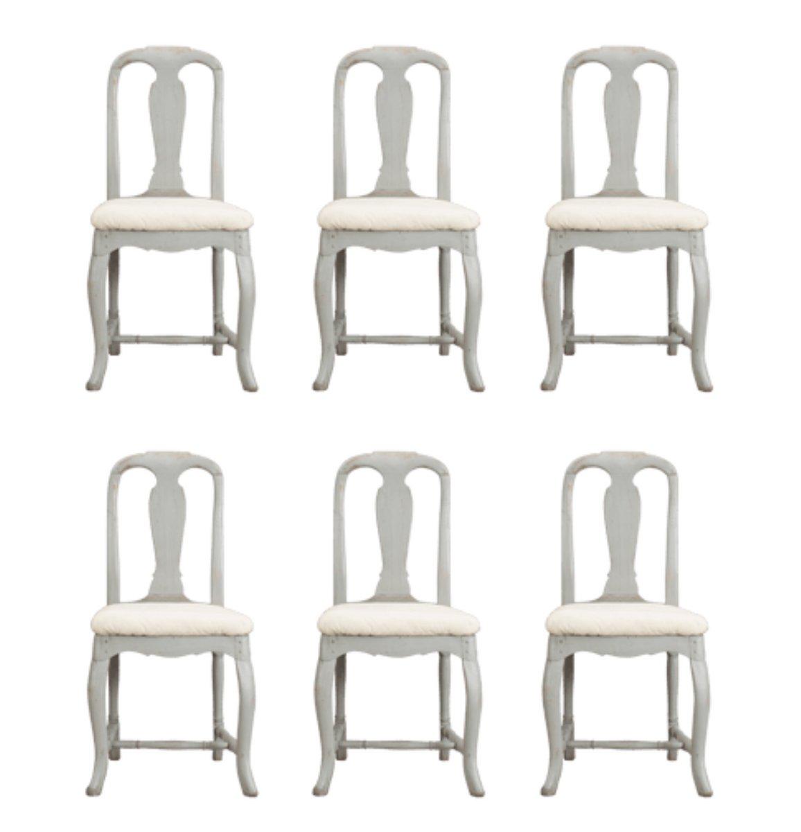 Antike Rokoko Stühle 6er Set 1750 Bei Pamono Kaufen